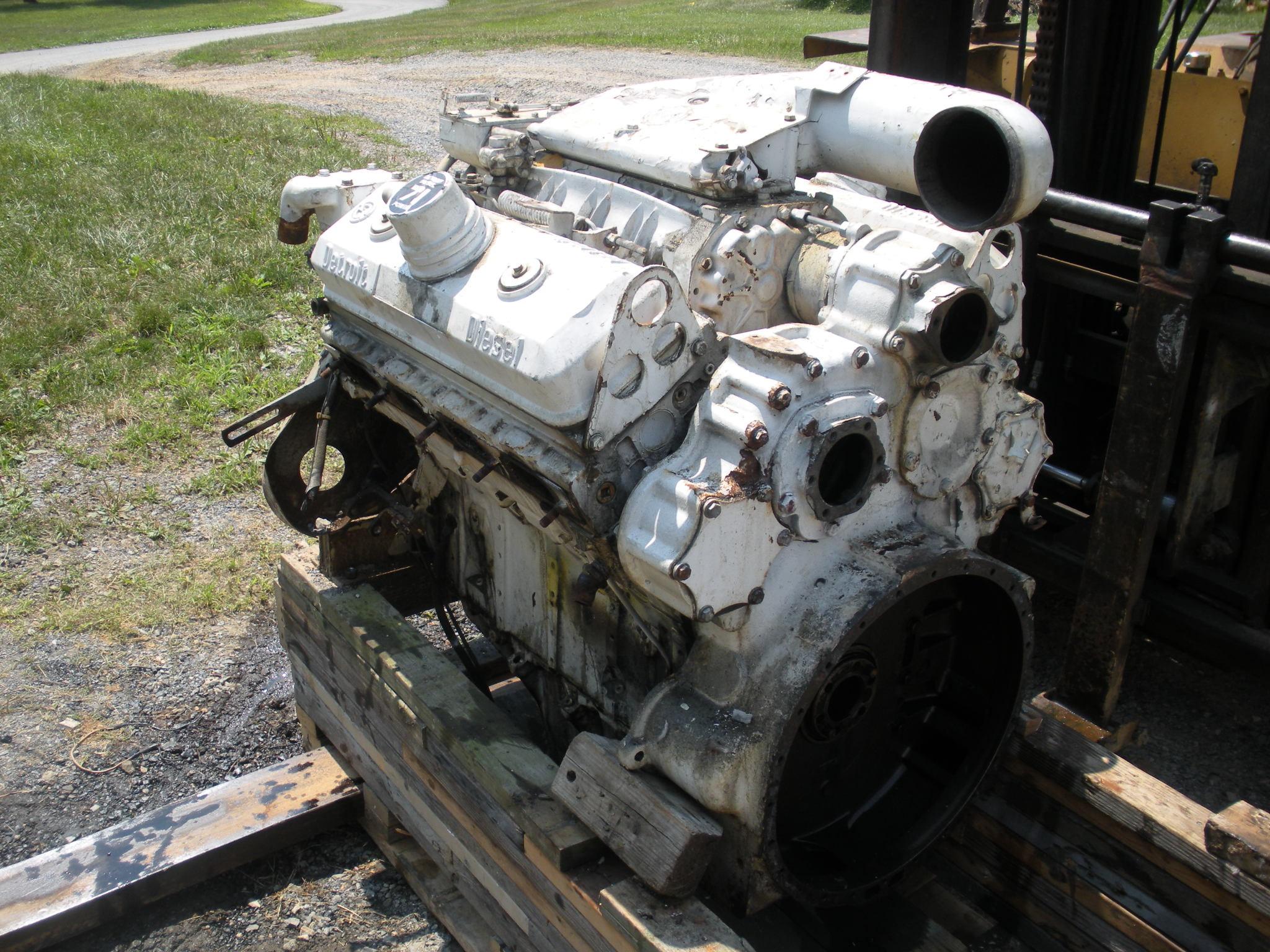 Detroit Diesel 8V71N Engine Core