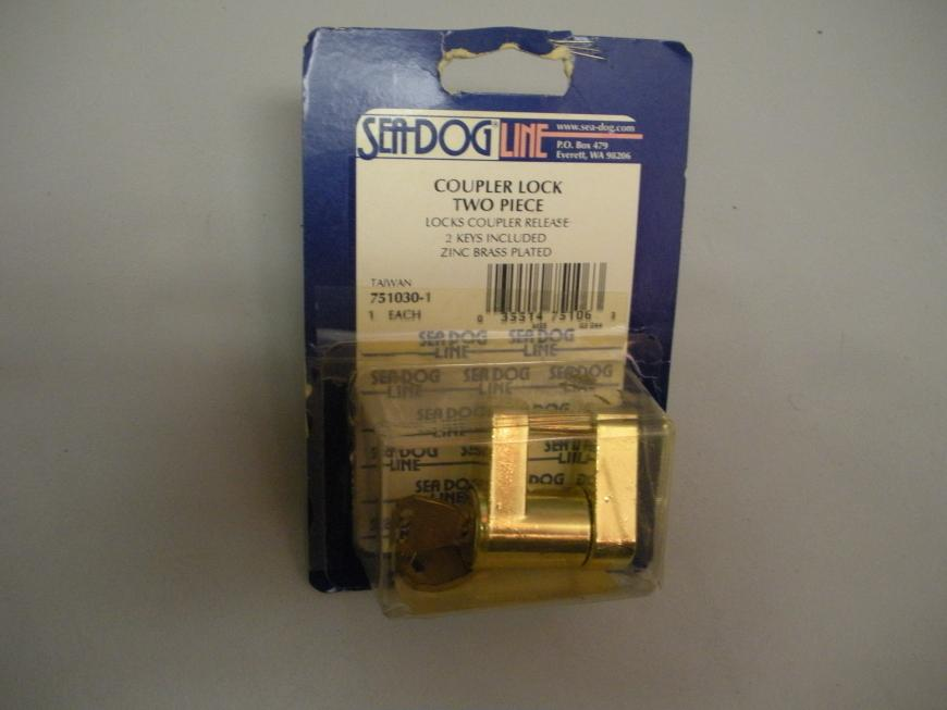 Seadog Two Piece Brass Plated Coupler Lock 751030-1