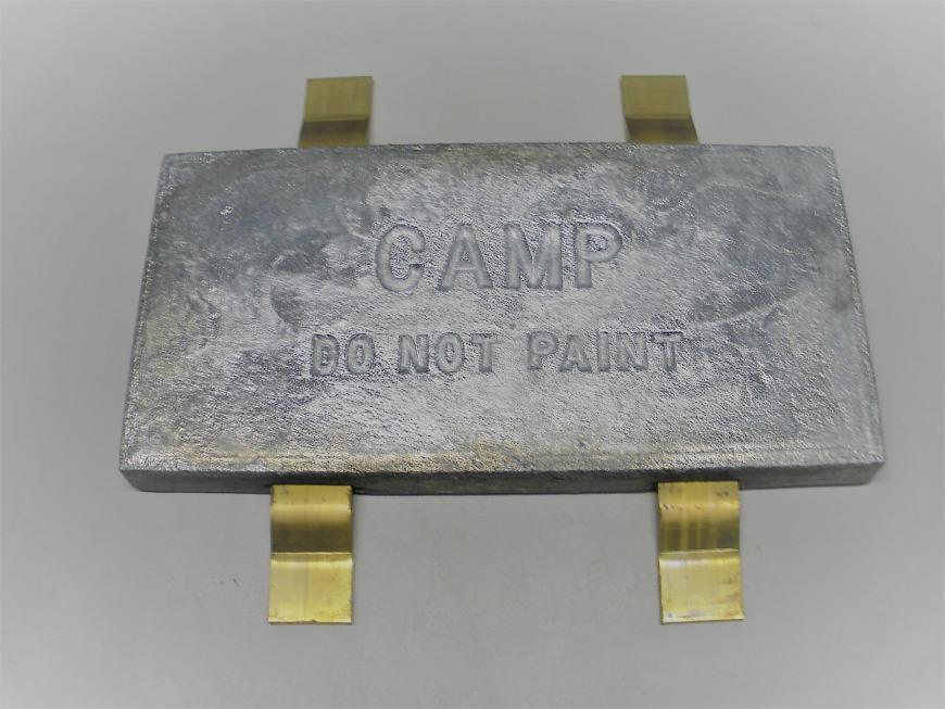 Camp Hull Plate Zinc with Strap W24SQ
