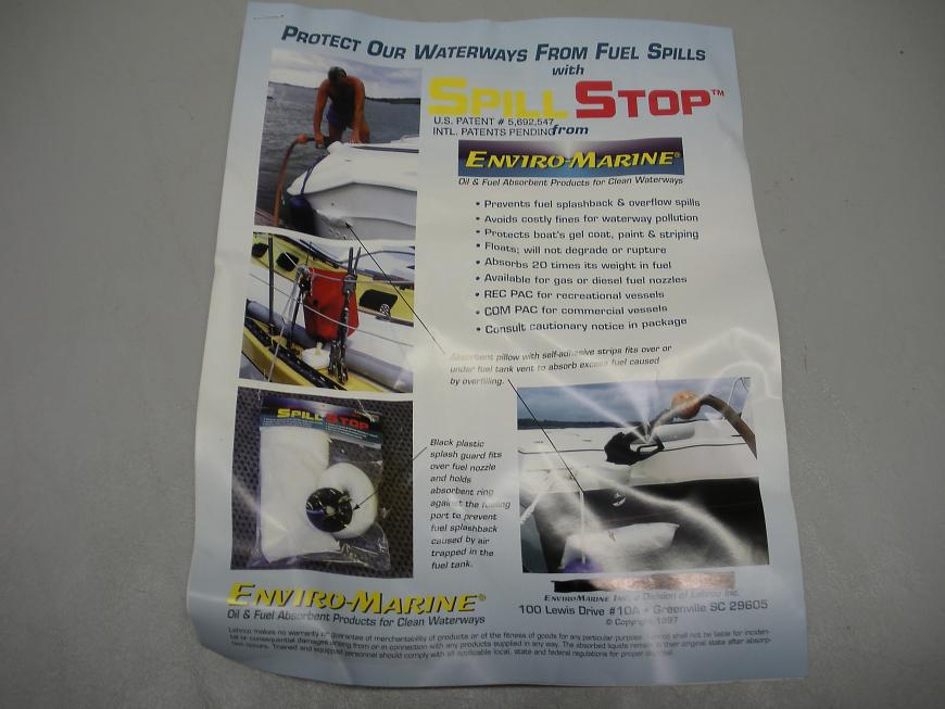 """Enviro Marine """"Spill Stop"""" Diesel Fuel Spill Prevention Kit"""