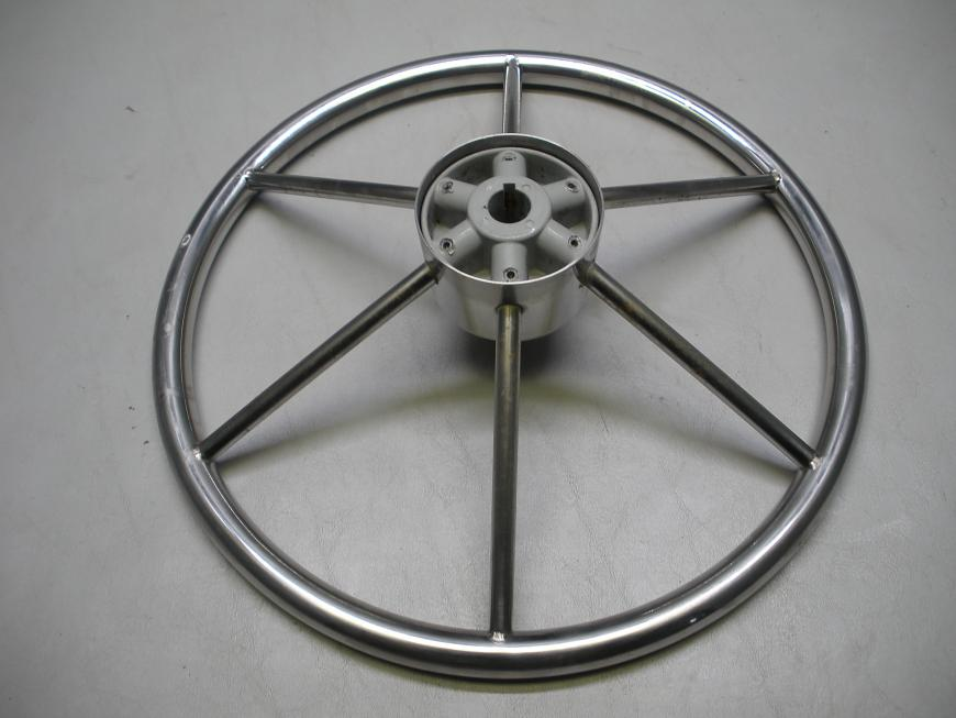Stainless Steel Destroyer Style Steering Wheel 15""