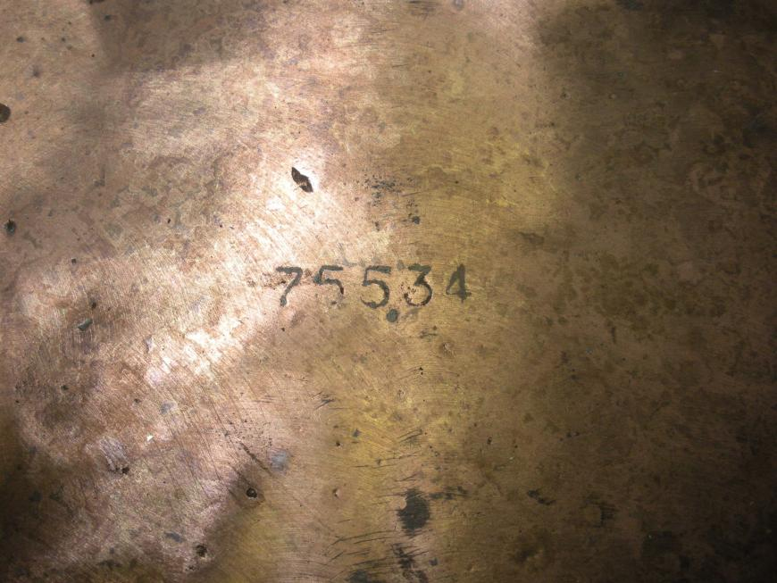 "Large Chris Craft Bronze Rudder ""75534"""