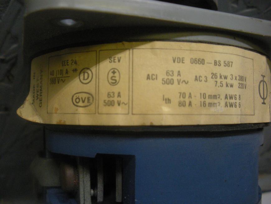 Kraus and Naimer Rotary Switch C65 B282 600 VAC