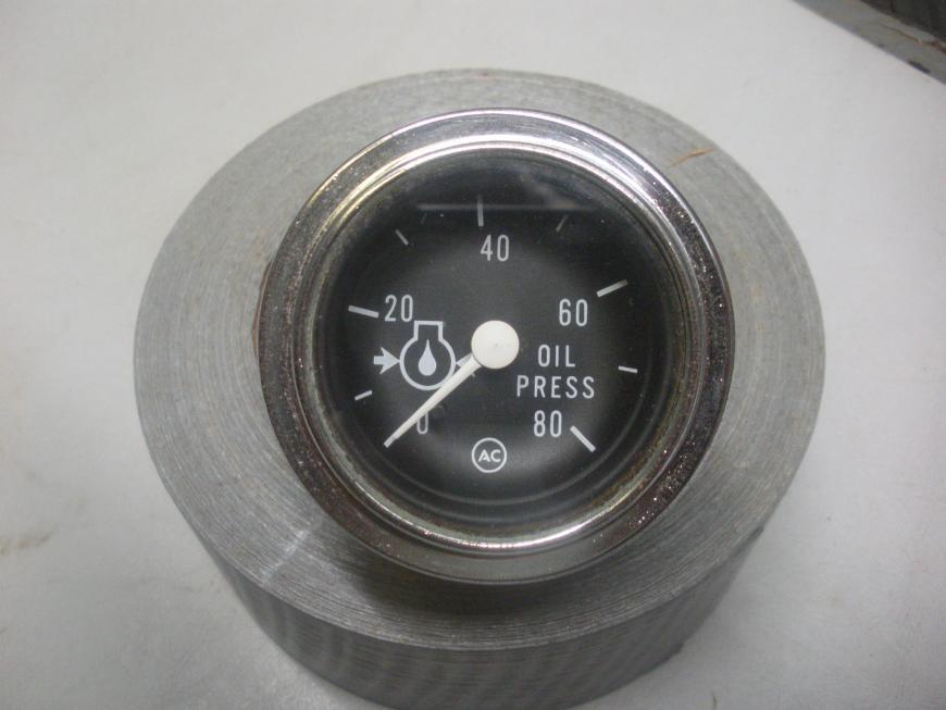 AC Manual Oil Pressure Gauge 0-80 PSI